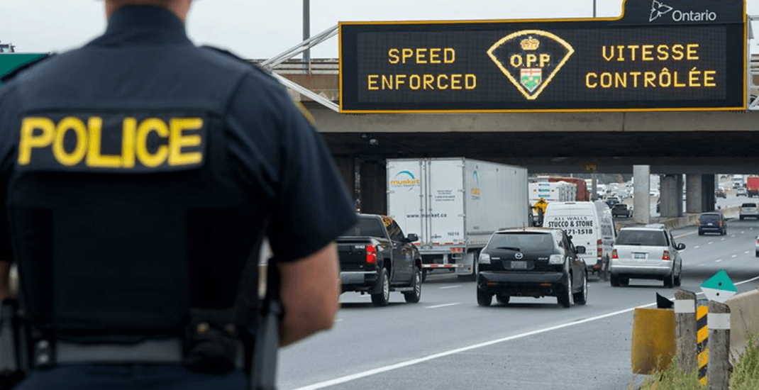 Ontario Provincial Police laid 213,000 speeding charges last year