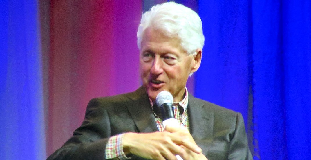 Former US president Bill Clinton in Vancouver today
