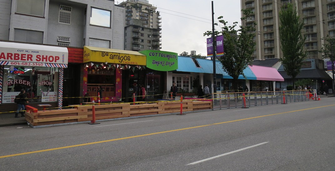 Massive parklet coming to Davie Street in Vancouver's West End (PHOTOS)