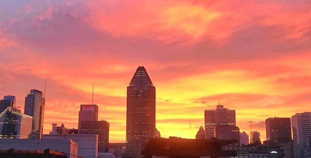 22 stunning shots of last night's fiery sunset in Montreal (PHOTOS)