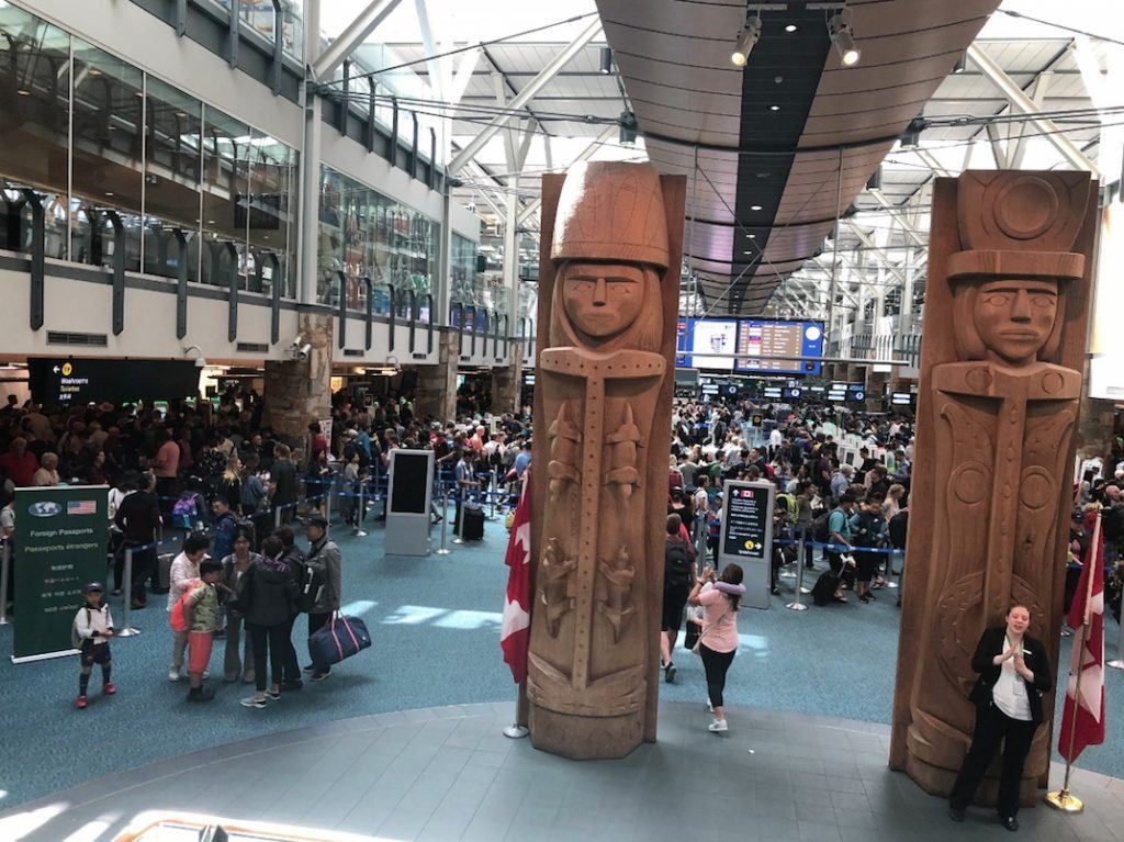 Vancouver International Airport crowding