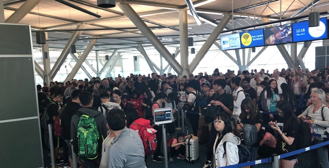 Large crowds and delays at YVR Airport during Canada Day long weekend (PHOTOS)
