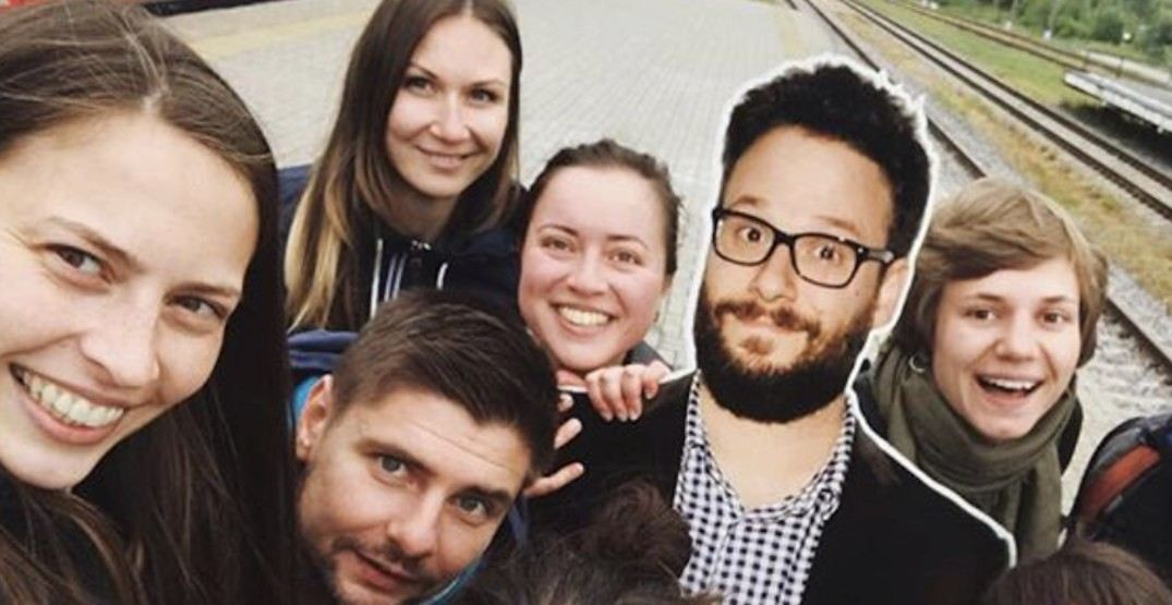 These superfans brought a cardboard cutout of Seth Rogen on vacation (PHOTOS)