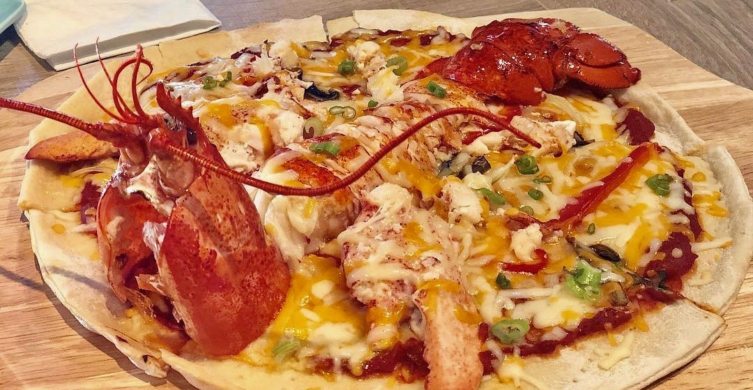 Vancouver's lobster-themed restaurant serves the ultimate seafood pizza