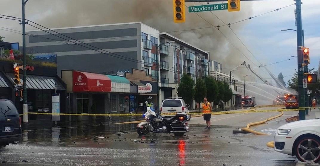 Vancouver's beloved Topanga Cafe engulfed by morning blaze