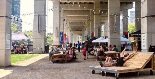 the bentway beer garden