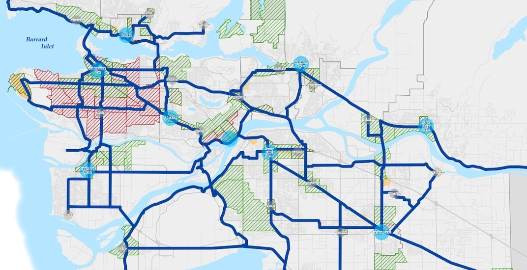 Translink major bike network vancouver