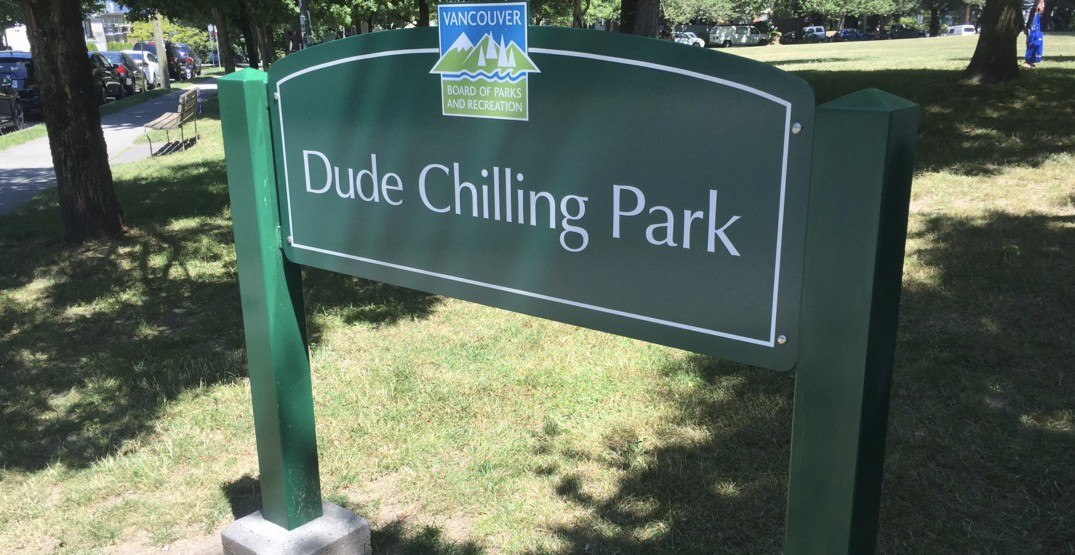 Chill restored: The Dude Chilling Park sign has officially been replaced