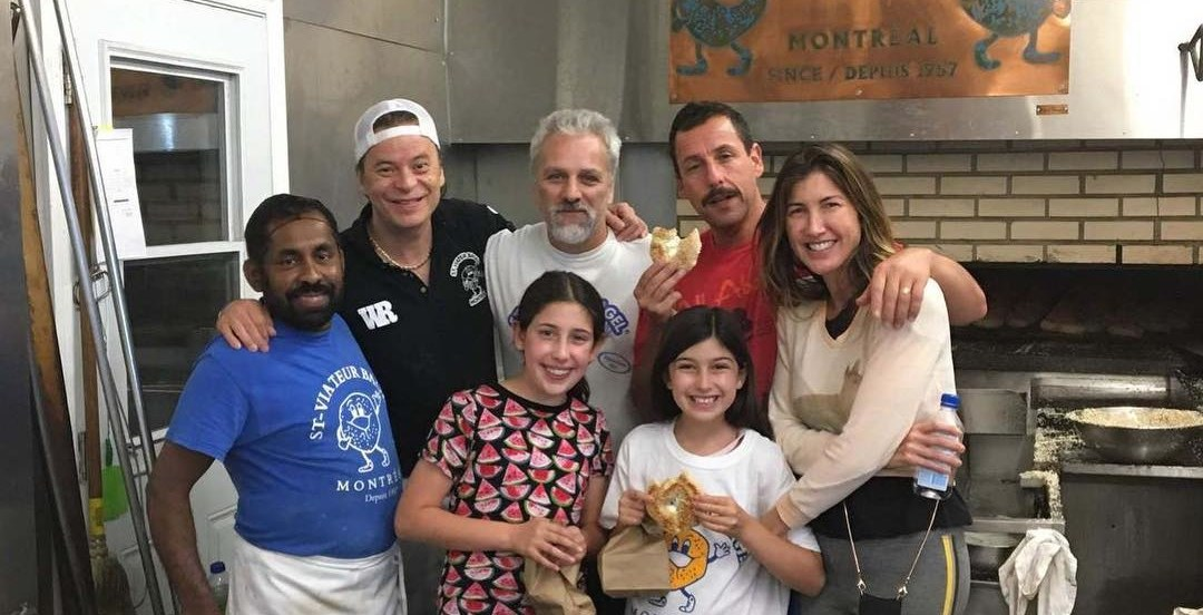 Adam Sandler spotted again in Montreal, this time at a renowned bagel shop