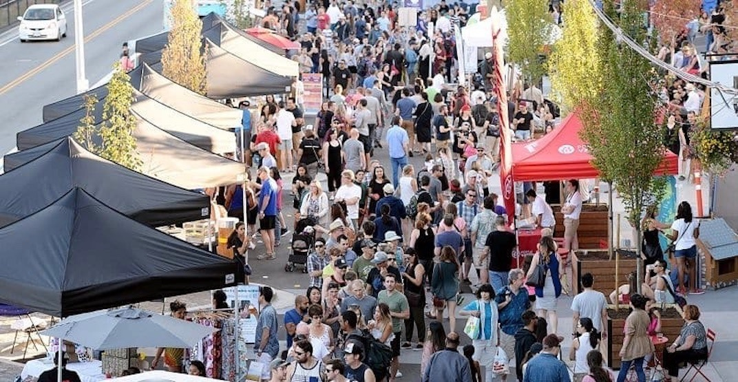 A huge weekly summer night market kicks off in New West tonight