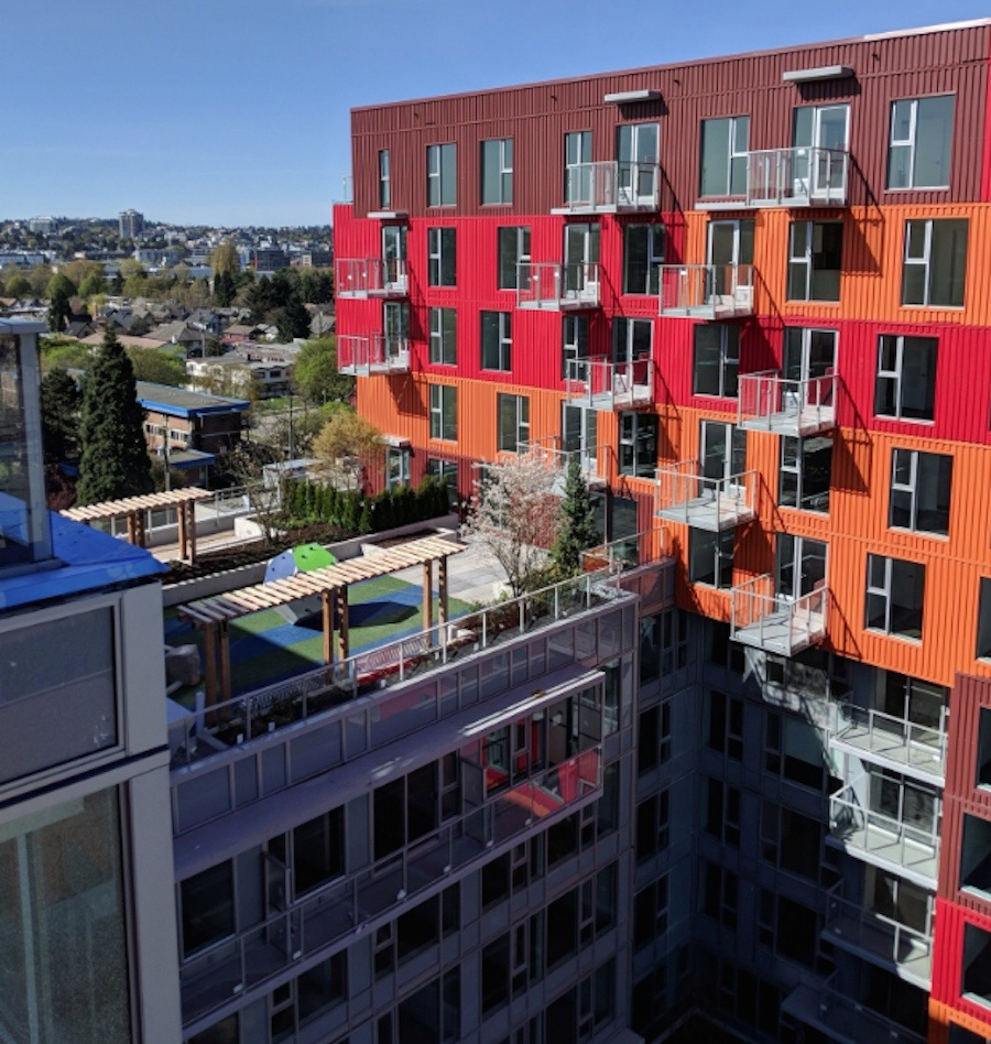 New Container-inspired Building With 350 Homes Opens In