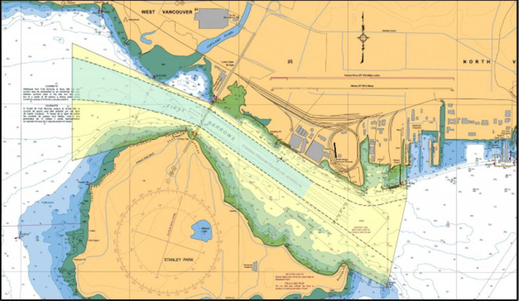 Map of First Narrows Traffic Control Zone