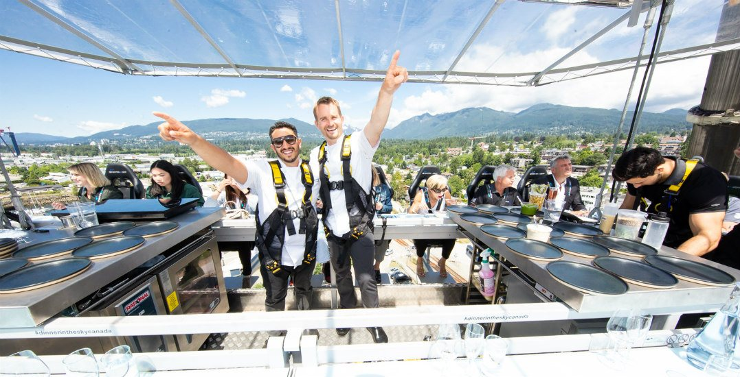 Win a VIP meal for 2 (worth $1,200) at Dinner in the Sky Canada