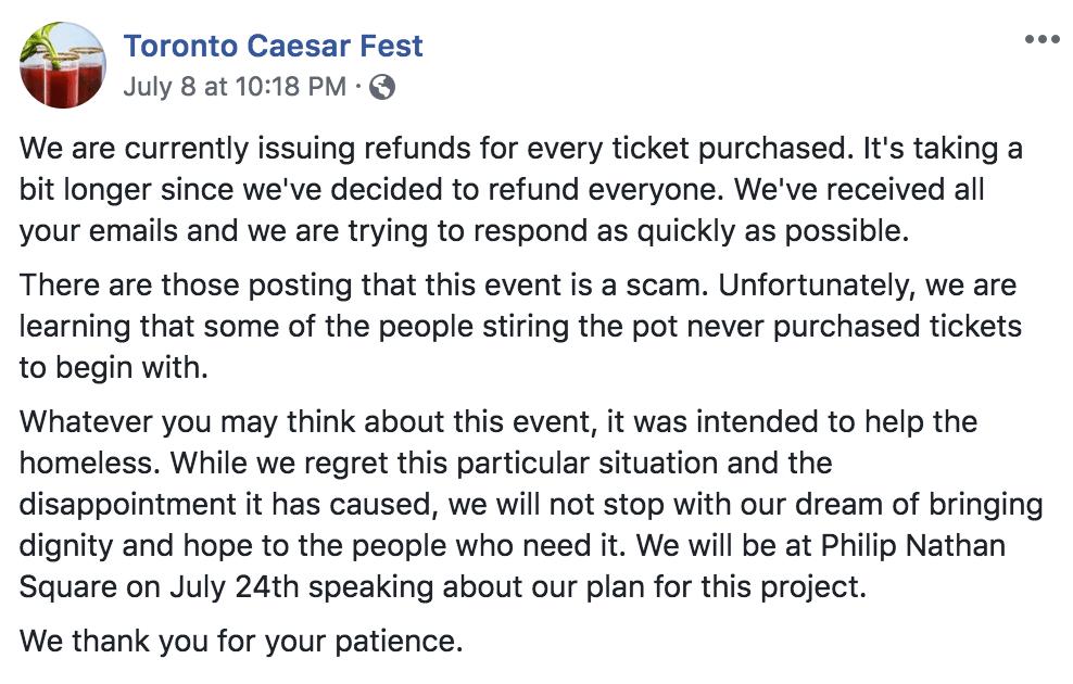 Toronto Caesar Challenge