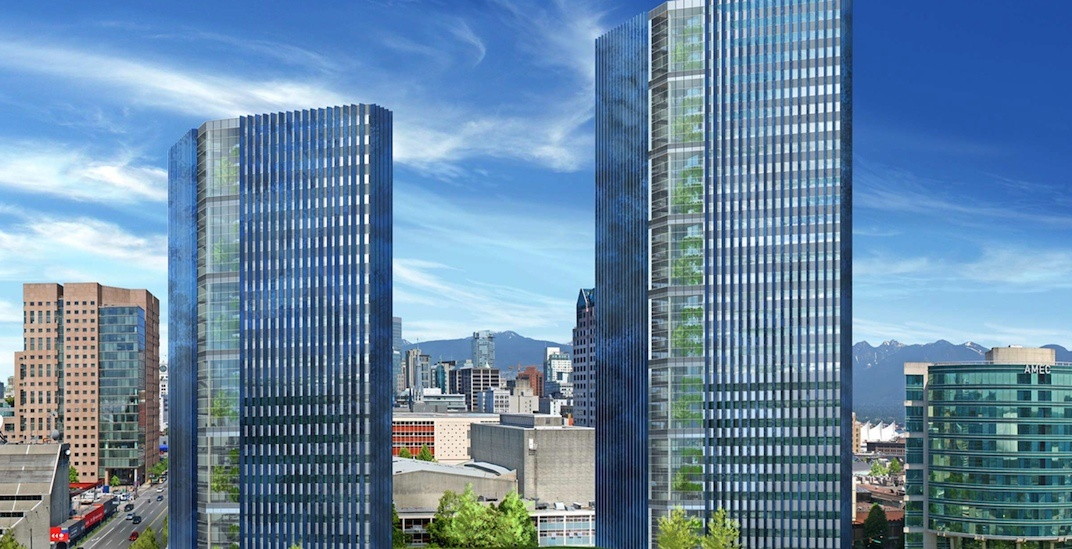 This office tower concept for downtown Vancouver was never built