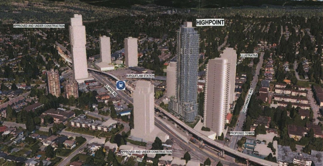 50-storey tower proposed next to Burquitlam Station in Coquitlam
