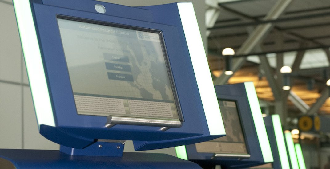 Vancouver international airport borderexpress kiosks