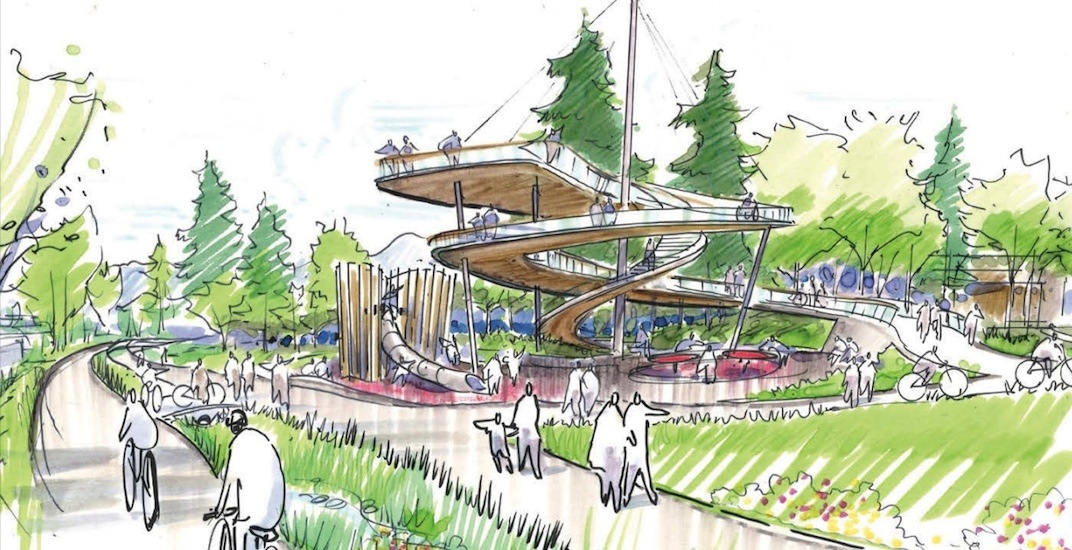New observation tower among first permanent redesigns of Arbutus Greenway