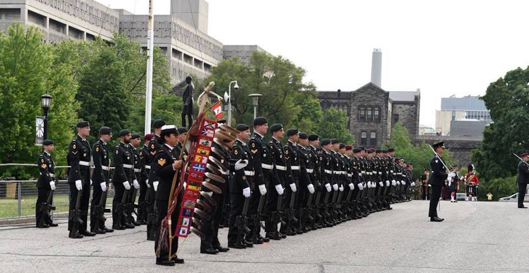 There a will be a 21-gun salute this afternoon at Queen's Park: Police
