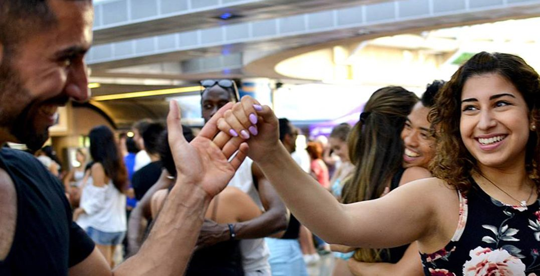 You can take free salsa lessons on Sunday afternoons at Robson Square