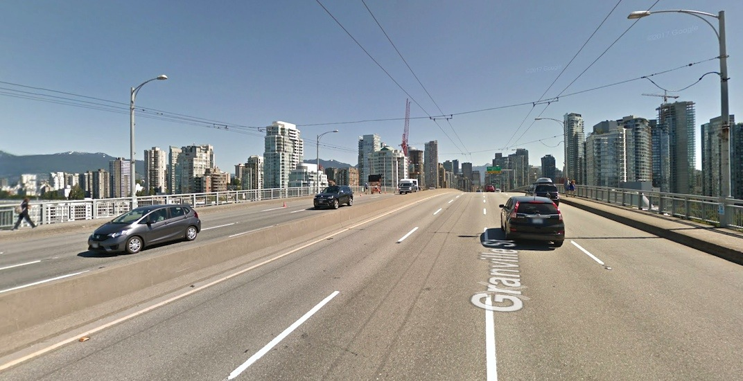 Granville Bridge will be closed in one direction over this weekend