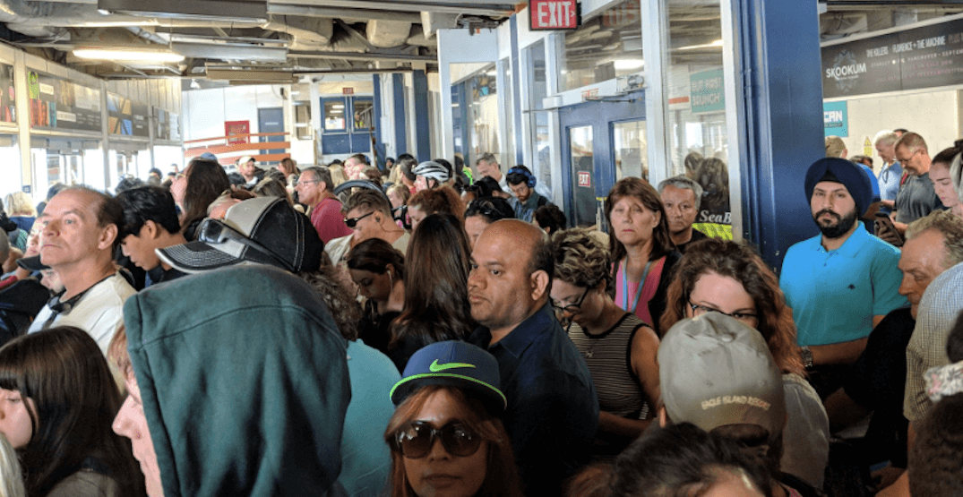 SeaBus suffering from major overcrowding due to Lions Gate Bridge closure (PHOTOS)