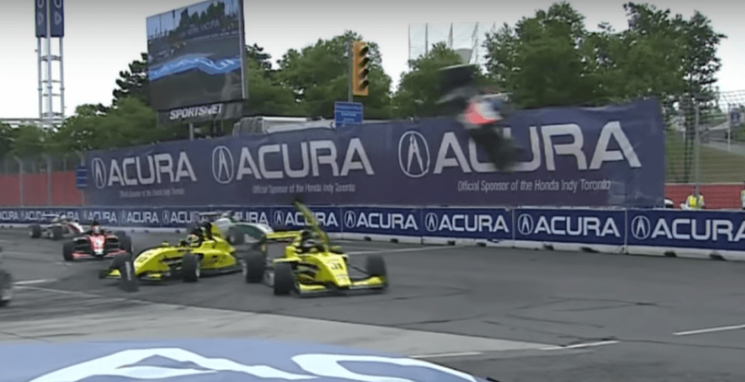 Car sent airborne in spectacular crash at Toronto Indy (VIDEO)