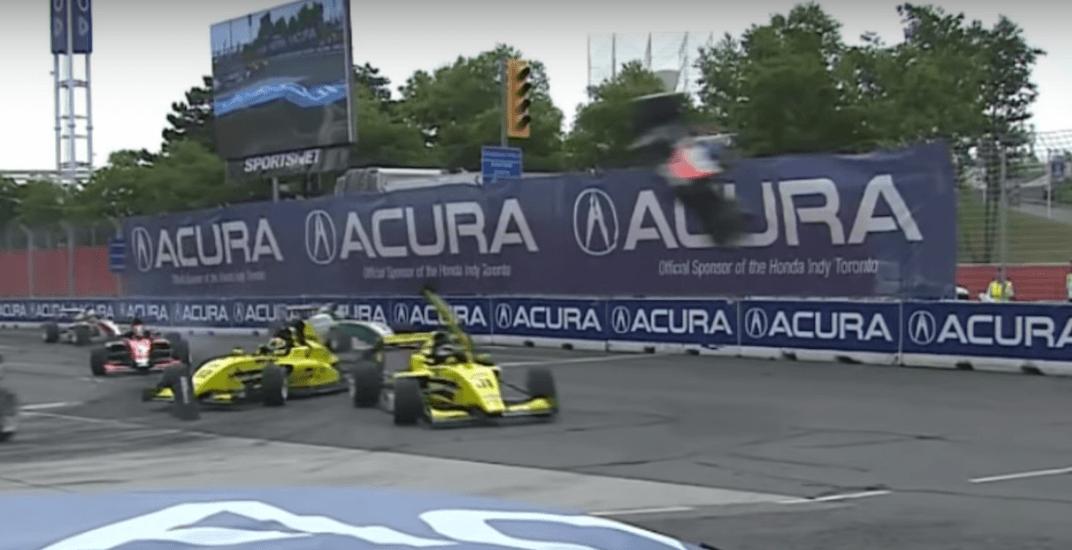 Car sent airborne in spectacular crash at Toronto Indy (VIDEO)