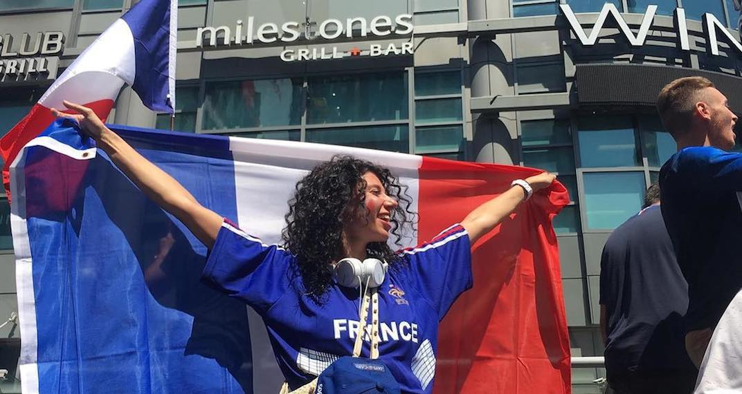 Toronto fans celebrate France's World Cup win (PHOTOS)