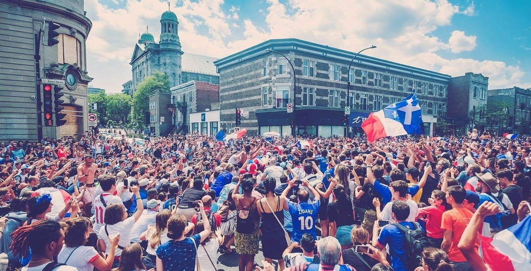 French pride took over the streets of Montreal after the World Cup Final (PHOTOS)