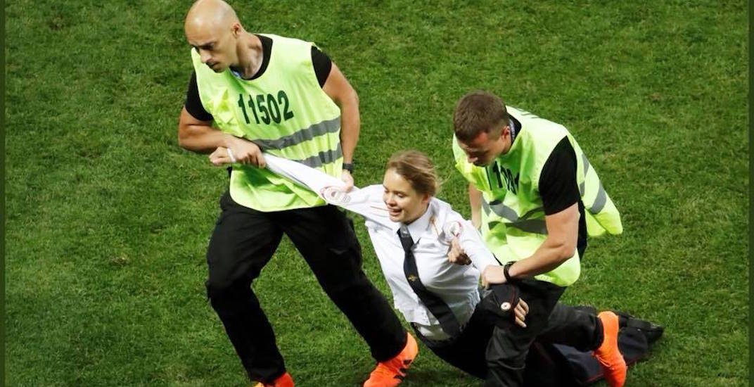 World Cup pitch invaders 'Pussy Riot' spend night in Russian jail