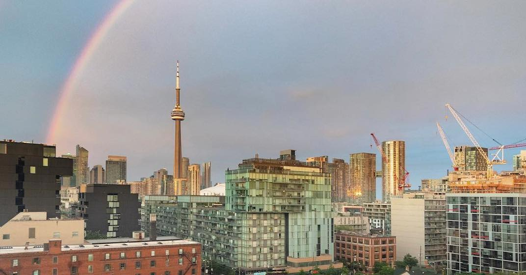16 shots of last night's stunning rainbow over Toronto (PHOTOS)