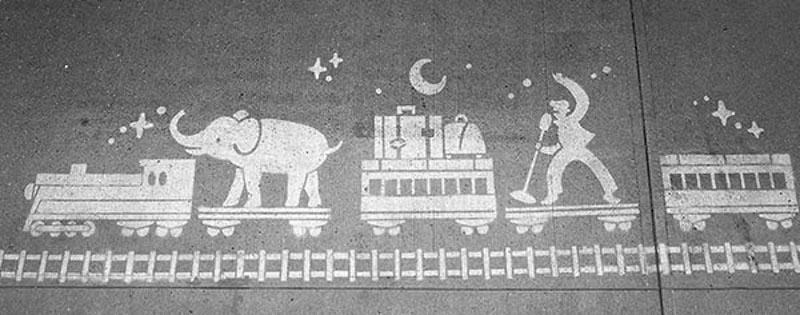 rain paint stencils public art