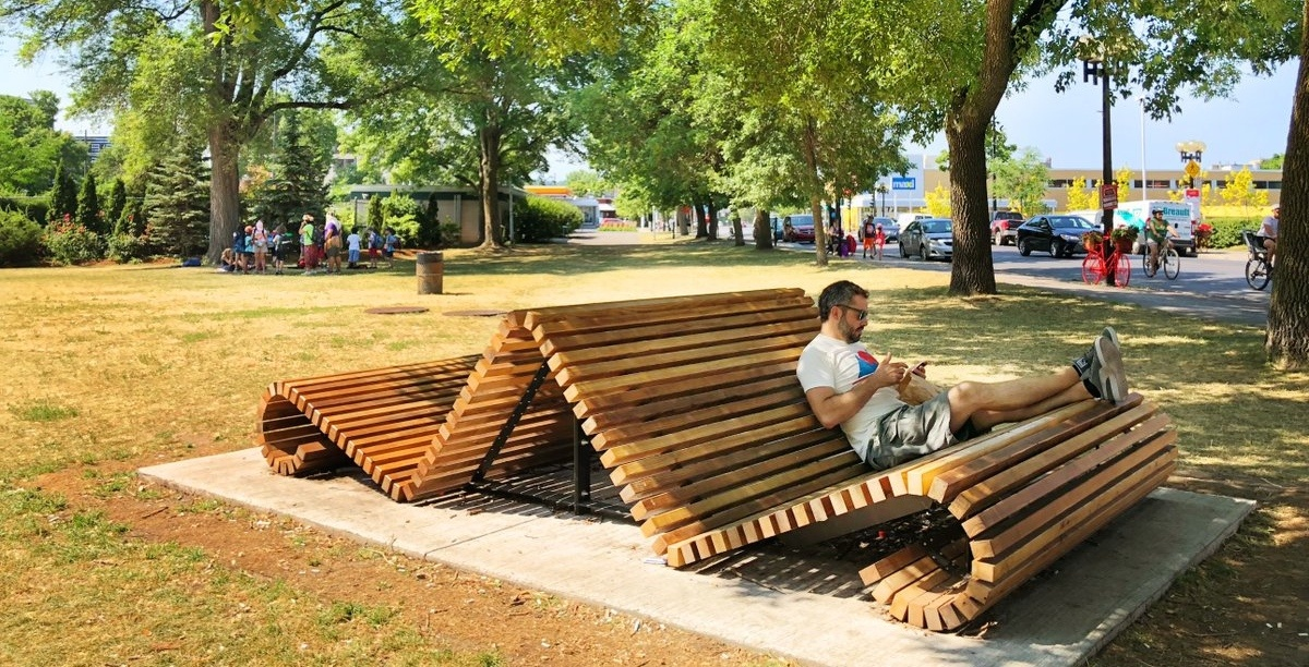 This Montreal borough turns infested trees into beautiful wooden benches
