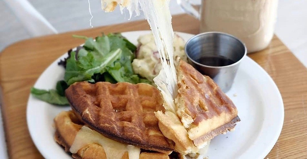 Where to get this new ooey gooey grilled cheese waffle in Vancouver