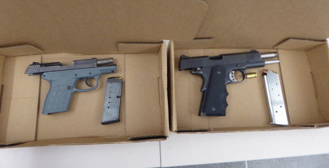 6 arrested after 2 loaded guns seized near Front and Spadina