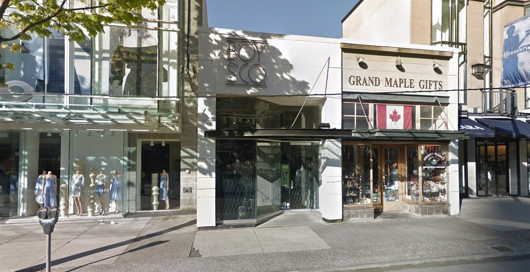 Boys'Co flagship store on Robson Street will be closing after 31 years