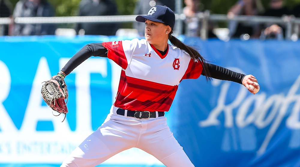 Canadian female pitcher to have jersey retired by men's team