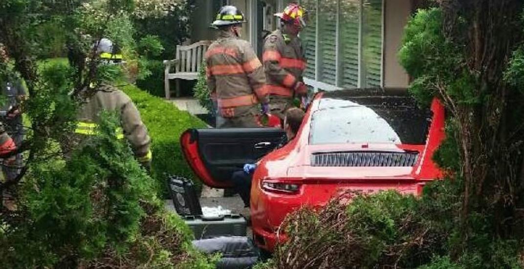 Porsche west vancouver crash july 18 2018 1
