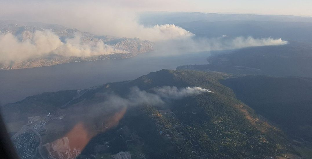Properties evacuated overnight due to wildfires in Okanagan Valley