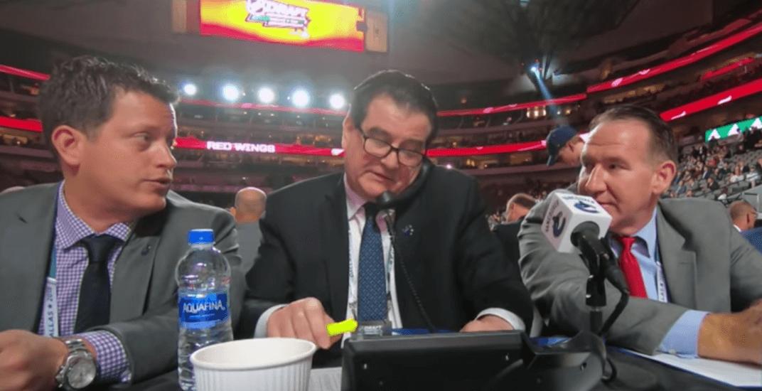 Canucks benning draft 2018