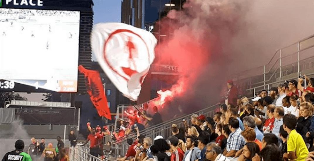 Toronto fc fans fire