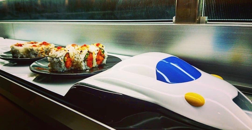 Check out this new 'bullet train' sushi bar in Calgary (VIDEO)