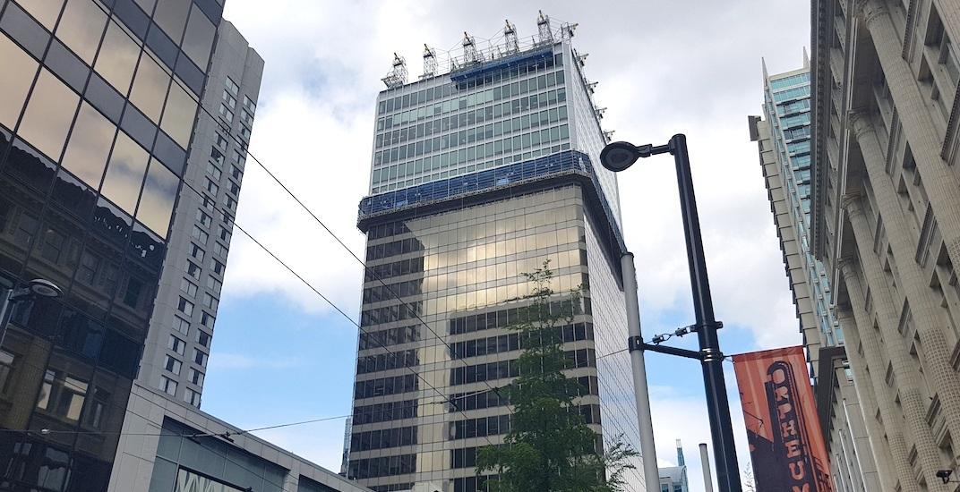 Cannacord Tower in downtown Vancouver is getting a new exterior