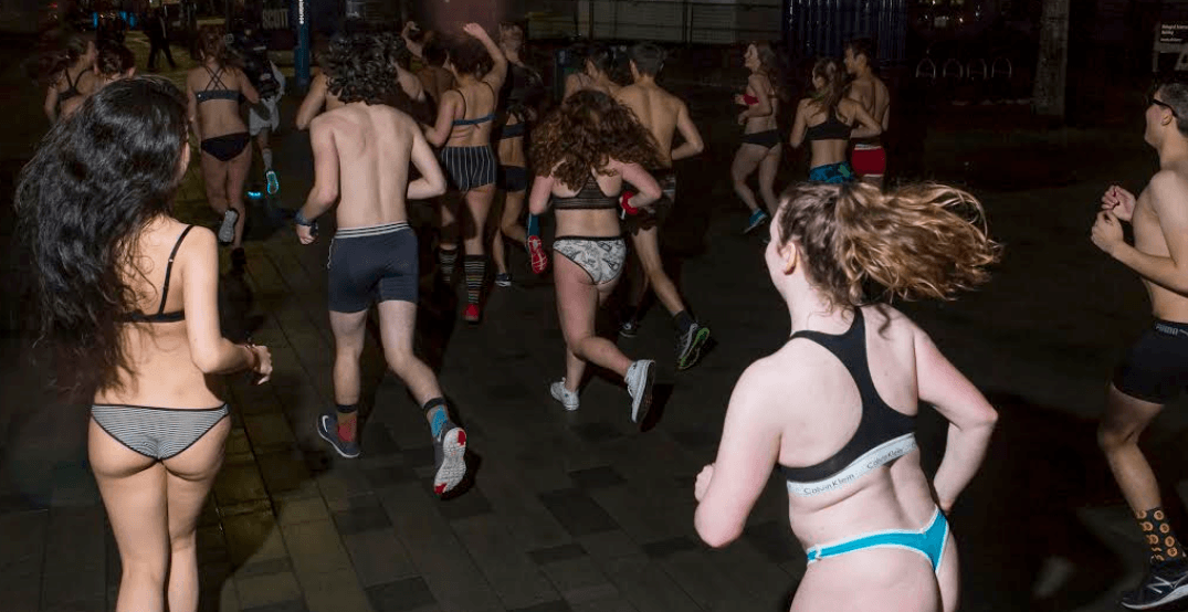 An underwear run is coming to downtown Vancouver next month