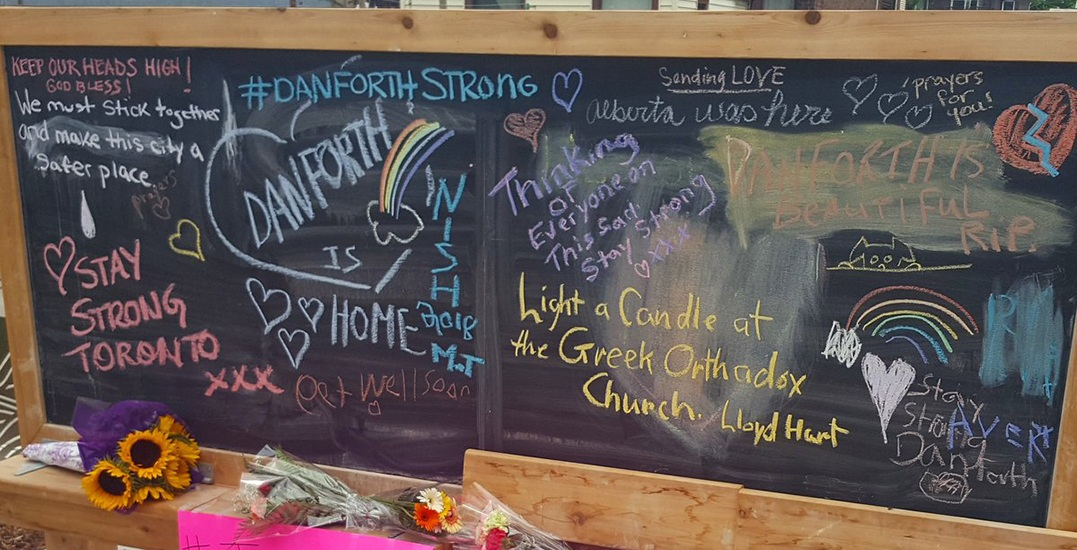 Torontonians take to the Danforth to share their love and support in chalk (PHOTOS)
