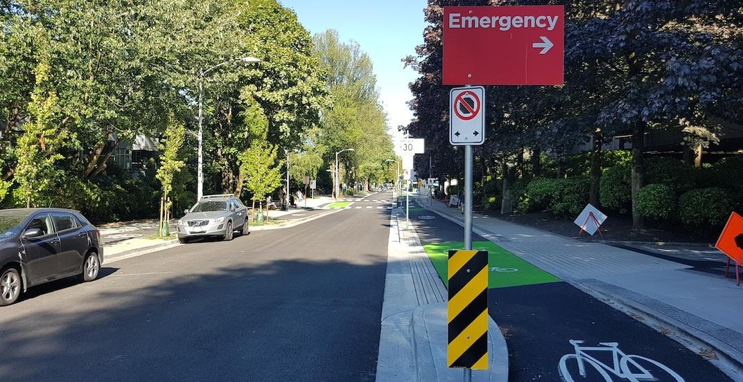 Vancouver 10th avenue bike lane vgh hospital 14