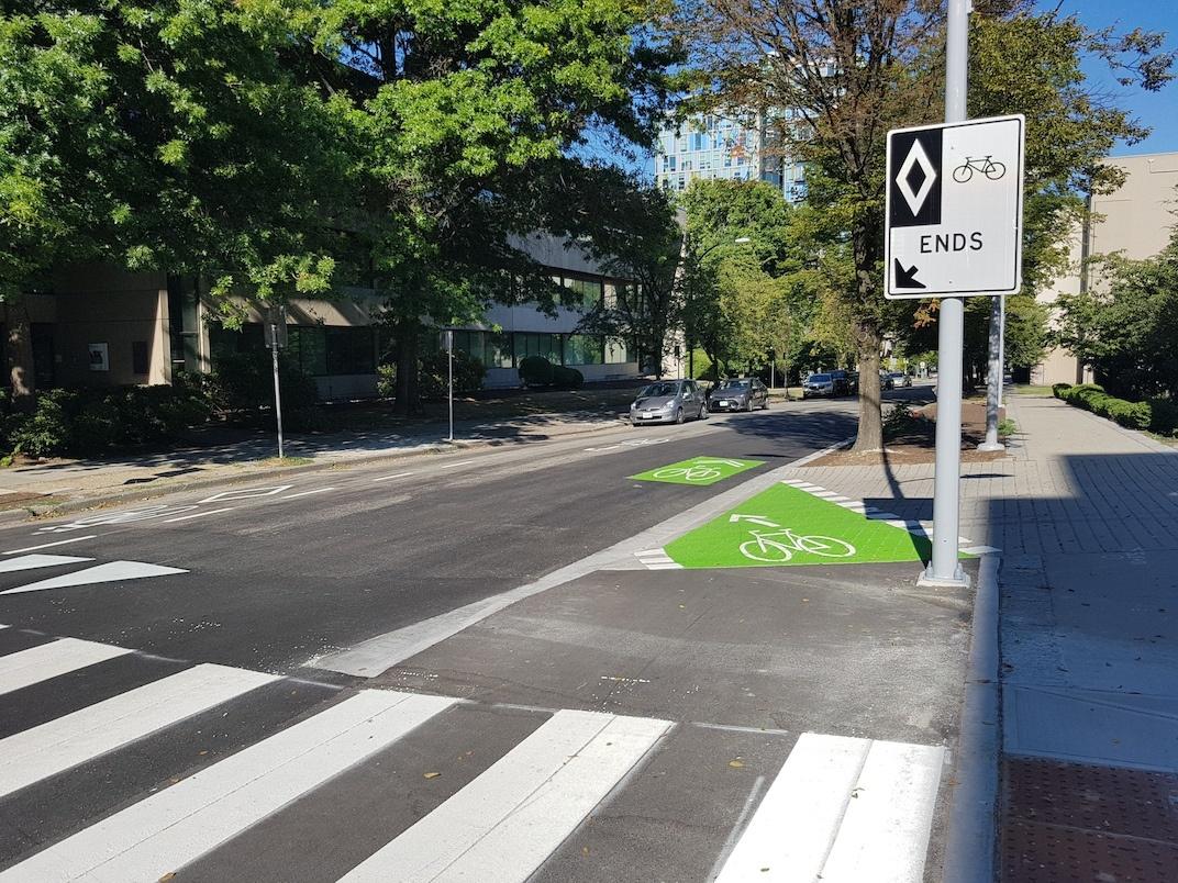 10th Avenue Bike Lane Vancouver General Hospital