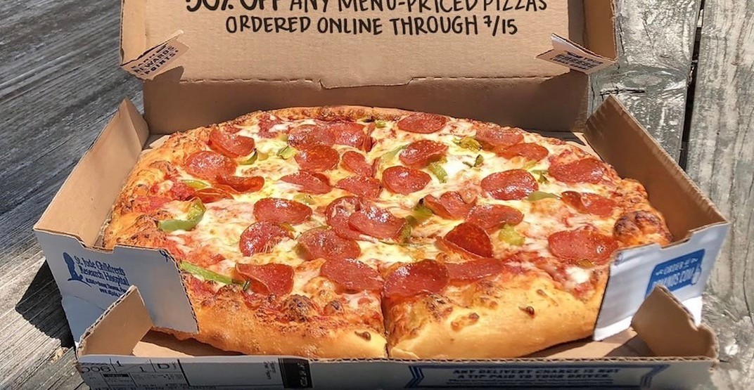 Get a whole pizza at Domino's for just $3.50 across the GTA today