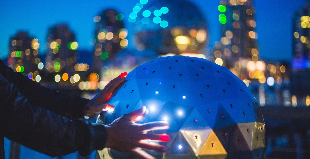 You can change the dome lights at Science World with this orb